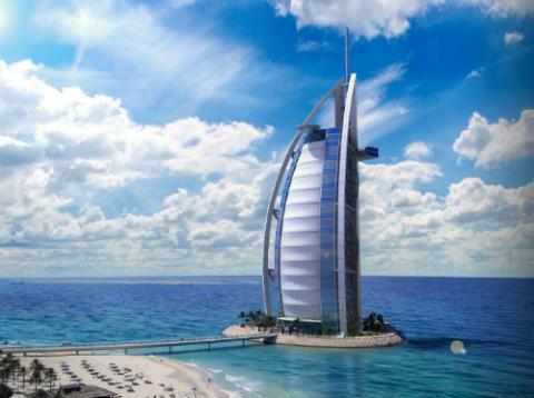hotel mas alto del mundo Burj Al Arab